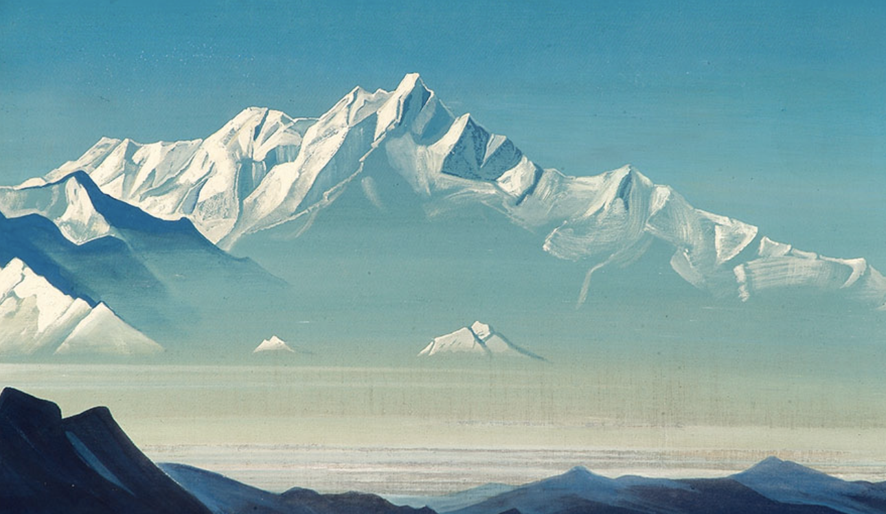 Mount of Five Treasures, painting by Nicholas Roerich