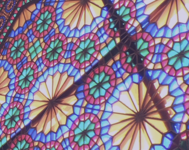Islamic stained glass window