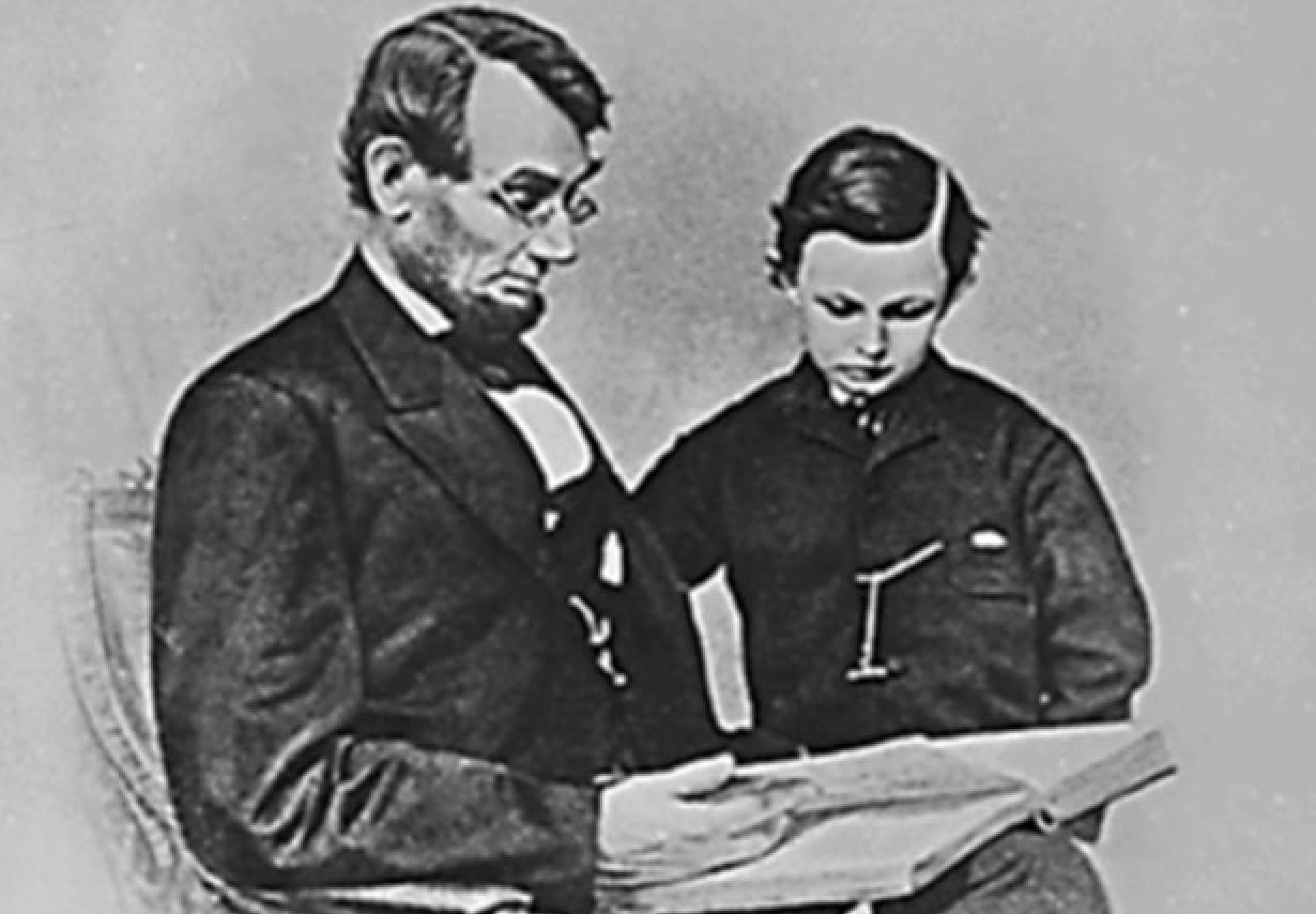 Lincoln reading to child
