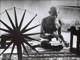 Gandhi and spinning wheel
