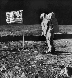 First astronauts on the moon