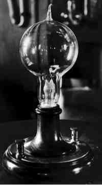 First electric light bulb